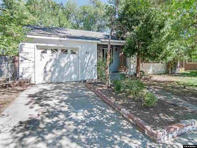 Reno Single Family Home For Sale: 20 Kaye Way