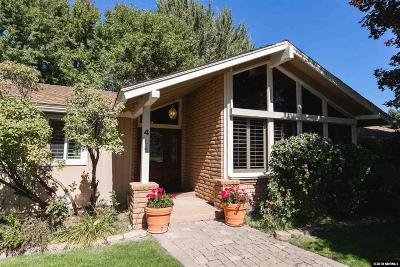 Carson City Single Family Home For Sale: 4 Glenbrook Cir.