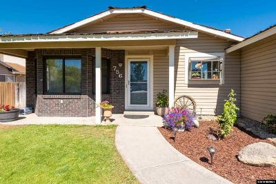 Gardnerville Single Family Home Active/Pending-Loan: 756 Bluerock