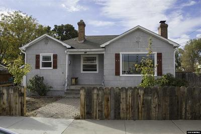 Washoe County Single Family Home Active/Pending-Loan: 610 Burns Street