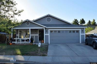 Washoe County Single Family Home New: 1615 Mescalero