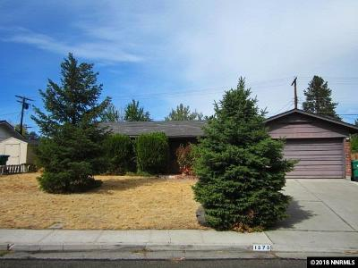 Washoe County Single Family Home For Sale: 1575 Elizabeth St