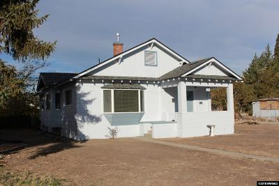 Yerington Single Family Home Active/Pending-Loan: 15 S Nevada