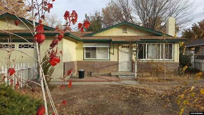 Carson City Single Family Home Active/Pending-Call: 1507 Stanford Drive