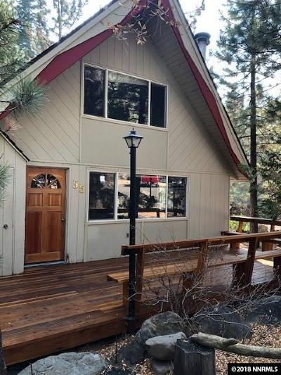Incline Village Single Family Home Price Reduced: 599 Crest #55