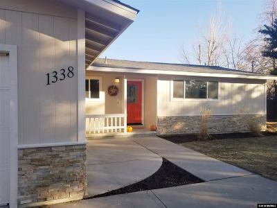 Gardnerville Single Family Home Active/Pending-Loan: 1338 Banner Dr