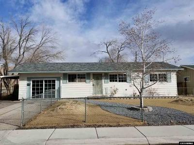 Washoe County Single Family Home Active/Pending-Loan: 1270 Butler Street