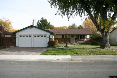 Reno Single Family Home For Sale: 4530 Alder Dr