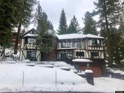 Zephyr Cove NV Single Family Home Active/Pending-Loan: $1,595,000