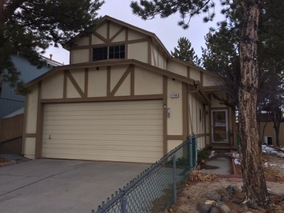 Sparks NV Single Family Home New: $276,900