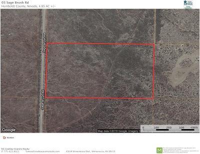 Winnemucca Residential Lots & Land For Sale: 03 Sage Brush Rd