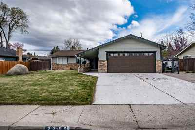 Washoe County Single Family Home Back On Market: 2250 Balsam St