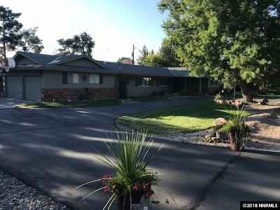 Washoe County Single Family Home Active/Pending-Loan: 12315 South Hills Drive