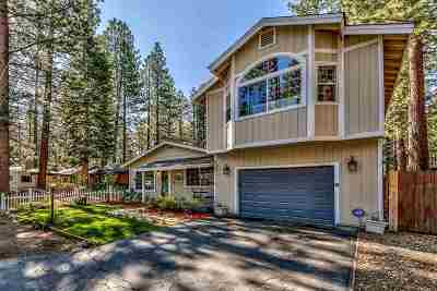 South Lake Tahoe CA Single Family Home For Sale: $520,000
