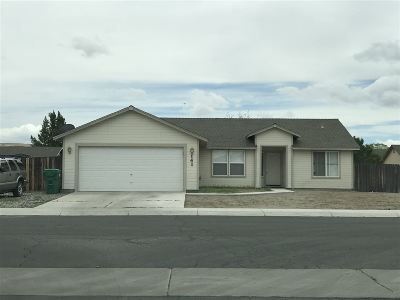 Fernley Single Family Home Active/Pending-Loan: 141 Prairie