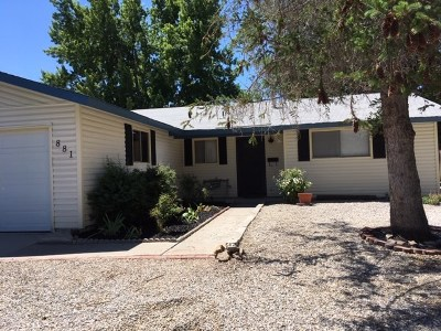 Carson City Single Family Home Active/Pending-Call: 881 Armory Ln