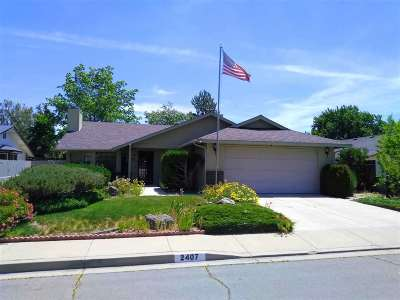Carson City Single Family Home New: 2407 Diane Drive