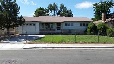 Washoe County Single Family Home Active/Pending-Loan: 1420 Trainer Way