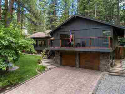 Zephyr Cove Single Family Home Active/Pending-Loan: 1055 Deer Cliff