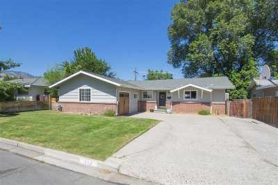 Carson City Single Family Home For Sale: 812 Hillcrest Road