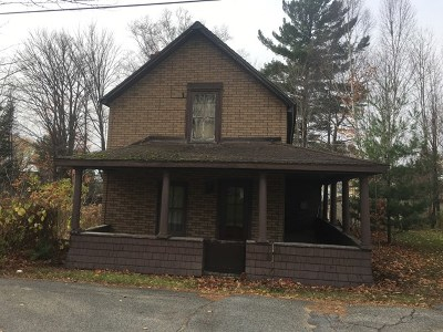 Tupper Lake NY Single Family Home For Sale: $15,000