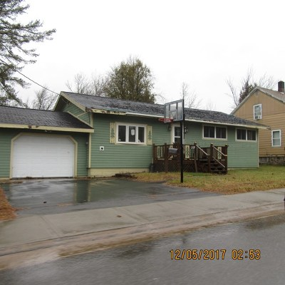 Tupper Lake NY Single Family Home For Sale: $51,900