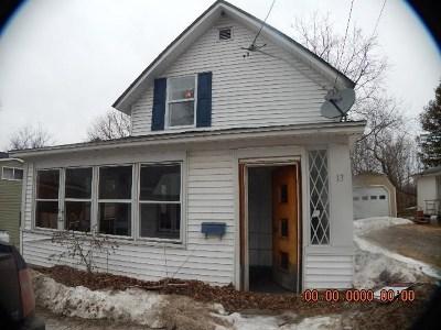 Tupper Lake NY Single Family Home For Sale: $19,900