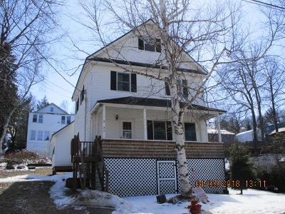 Saranac Lake NY Single Family Home For Sale: $89,900