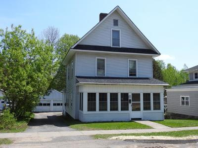 Tupper Lake NY Single Family Home For Sale: $74,900