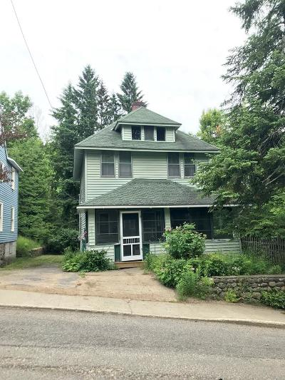 Saranac Lake NY Single Family Home For Sale: $144,000