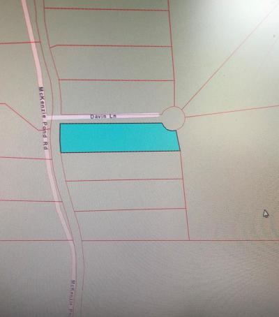 Residential Lots & Land For Sale: McKenzie Pond/Davin Ln.