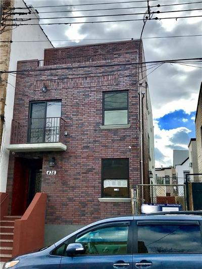 Brooklyn NY Multi Family Home For Sale: $995,000
