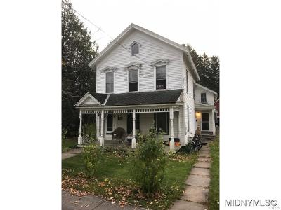 Waterville NY Single Family Home A-Active: $86,900