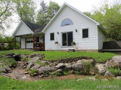 Waterville NY Single Family Home For Sale: $99,000