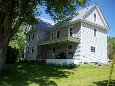 Allegany County, Cattaraugus County Single Family Home A-Active: 784 Hardy Corners Road