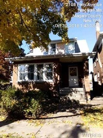 Niagara Falls Single Family Home U-Under Contract: 2106 Ferry Avenue
