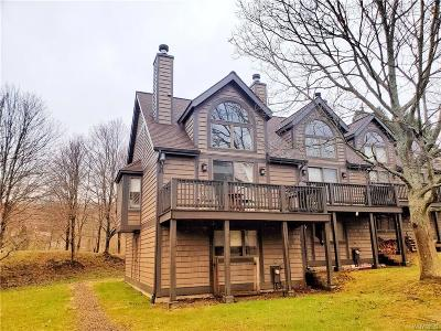 Ellicottville Single Family Home For Sale: 130 Holiview Rd-The Woods #130