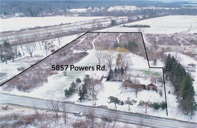 Orchard Park Single Family Home For Sale: 5857 Powers Road