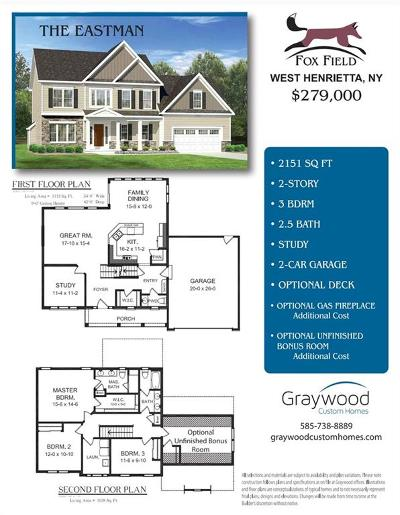 Henrietta Single Family Home A-Active: 150 Fox Field Lane