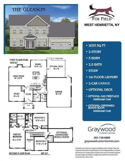 Henrietta Single Family Home A-Active: 98 (Lot 146) Hidden View