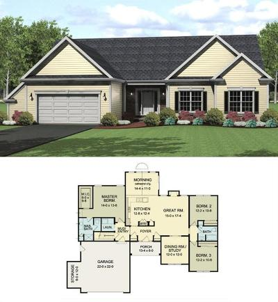 Monroe County Single Family Home A-Active: Lot #803 Fern Way