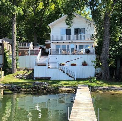 Single Family Home A-Active: 5388 E Lake Road