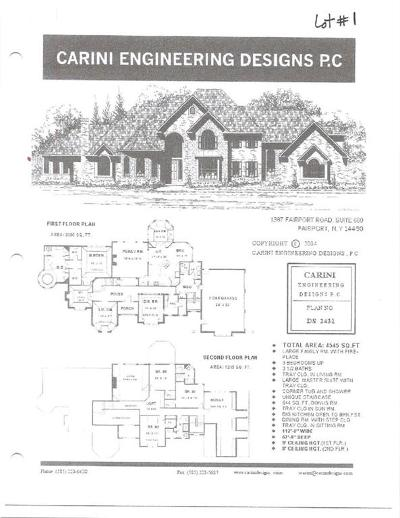 Victor Single Family Home A-Active: 6878 Valentown Acres Lot #1