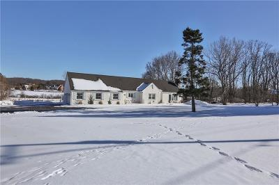 Pittsford Single Family Home A-Active: 1058 Pitts Mendon Road