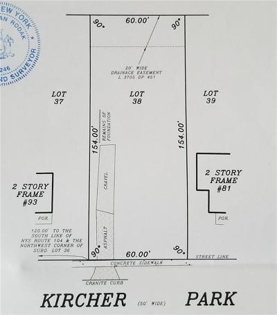 Webster Residential Lots & Land For Sale: 87 Kircher Park
