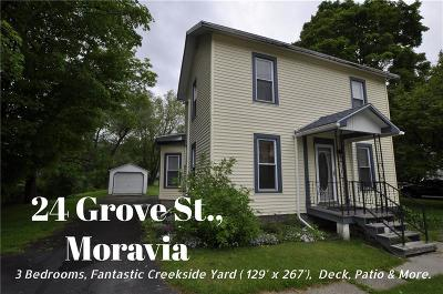 Moravia Single Family Home For Sale: 24 Grove Street
