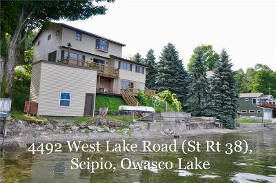 Single Family Home For Sale: 4492 West Lake Rd (State Route 38) Road