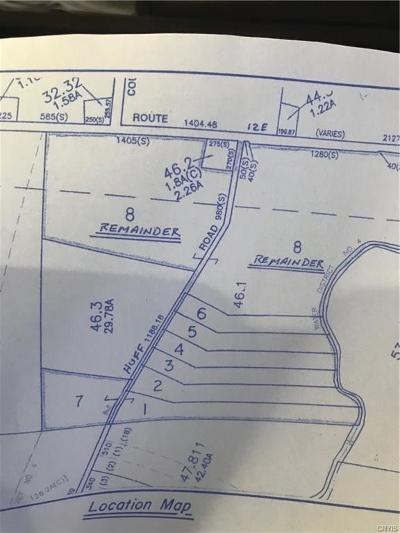 Jefferson County, Lewis County, St Lawrence County Residential Lots & Land A-Active: Lot#3 Huff Road