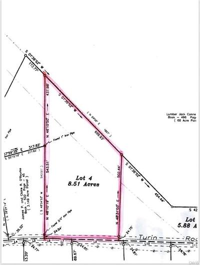 Turin NY Residential Lots & Land A-Active: $24,000