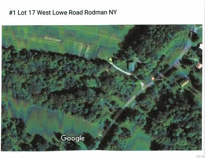 Rodman NY Residential Lots & Land A-Active: $15,000